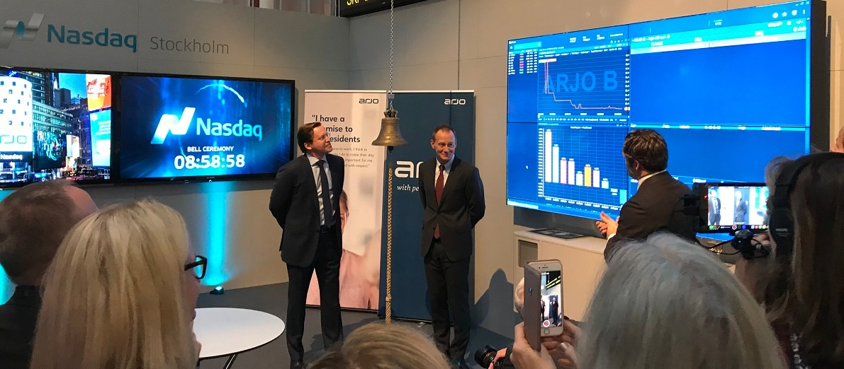 Arjo is now listed on Nasdaq Stockholm (updated)