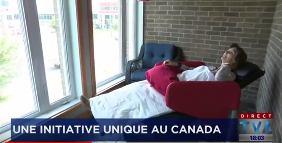 Canadian TV report on the Wellness Nordic Relax® Chair