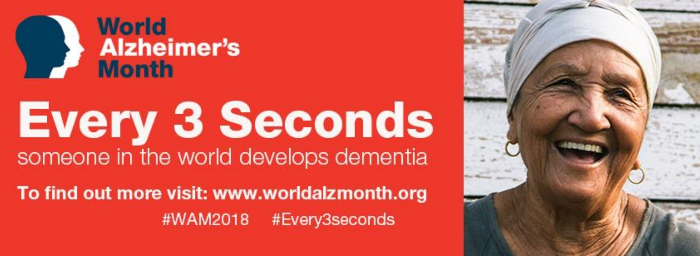 Join us for World Alzheimer's Month September 2018