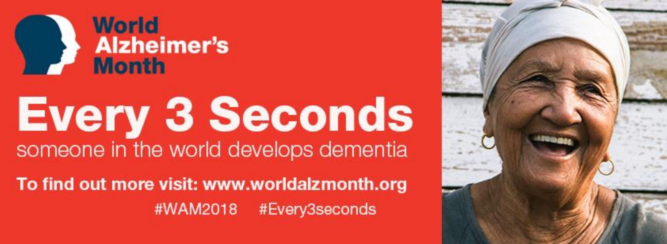 Join us for World Alzheimer's Month September 2018